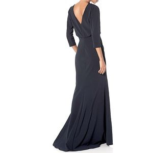 NWT Badgley Mischka Collection Black Gown Dress